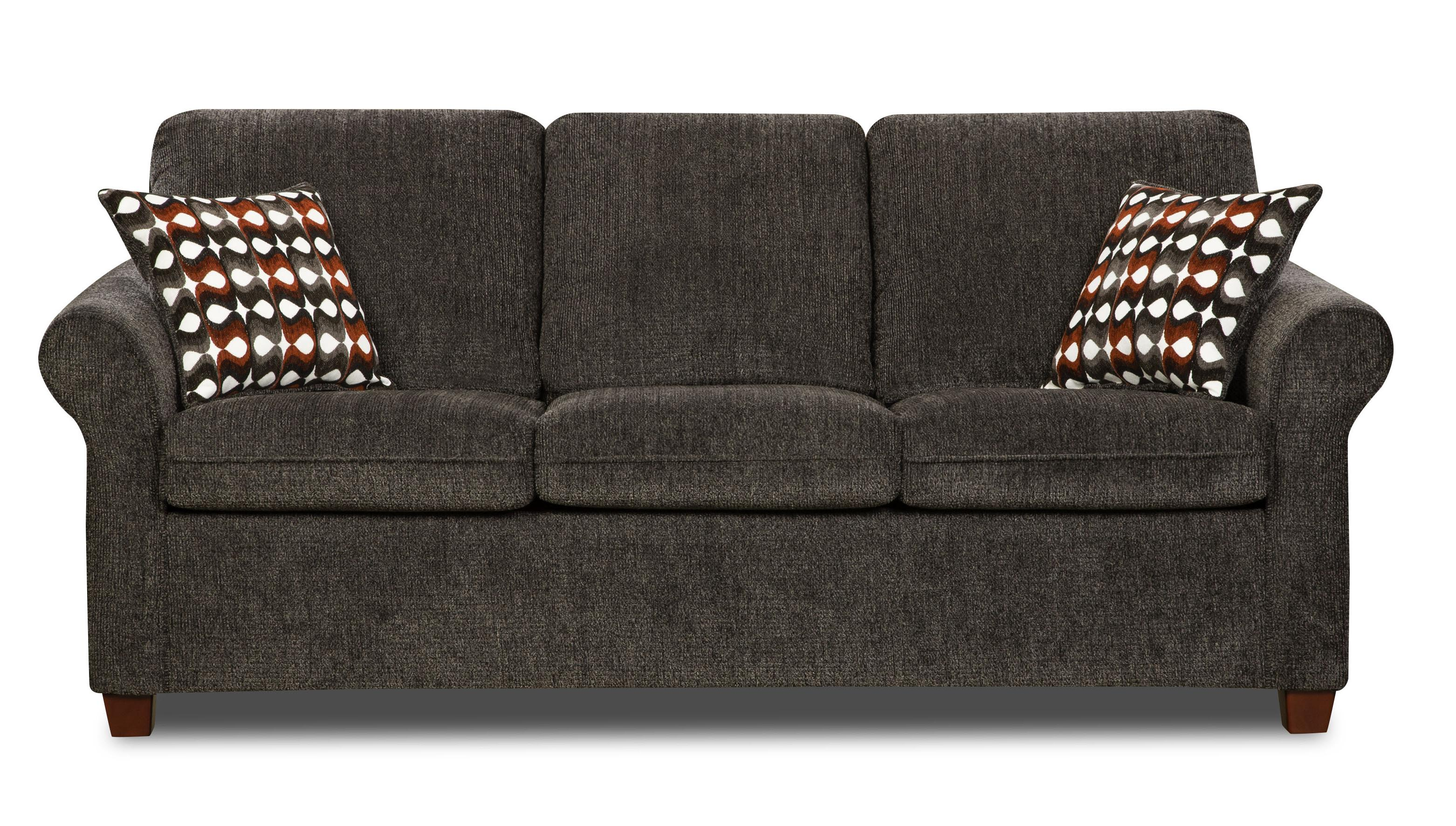 Simmons Upholstery 1630 Transitional Queen Sleeper - Item Number: 1630QSleeper-Charcoal