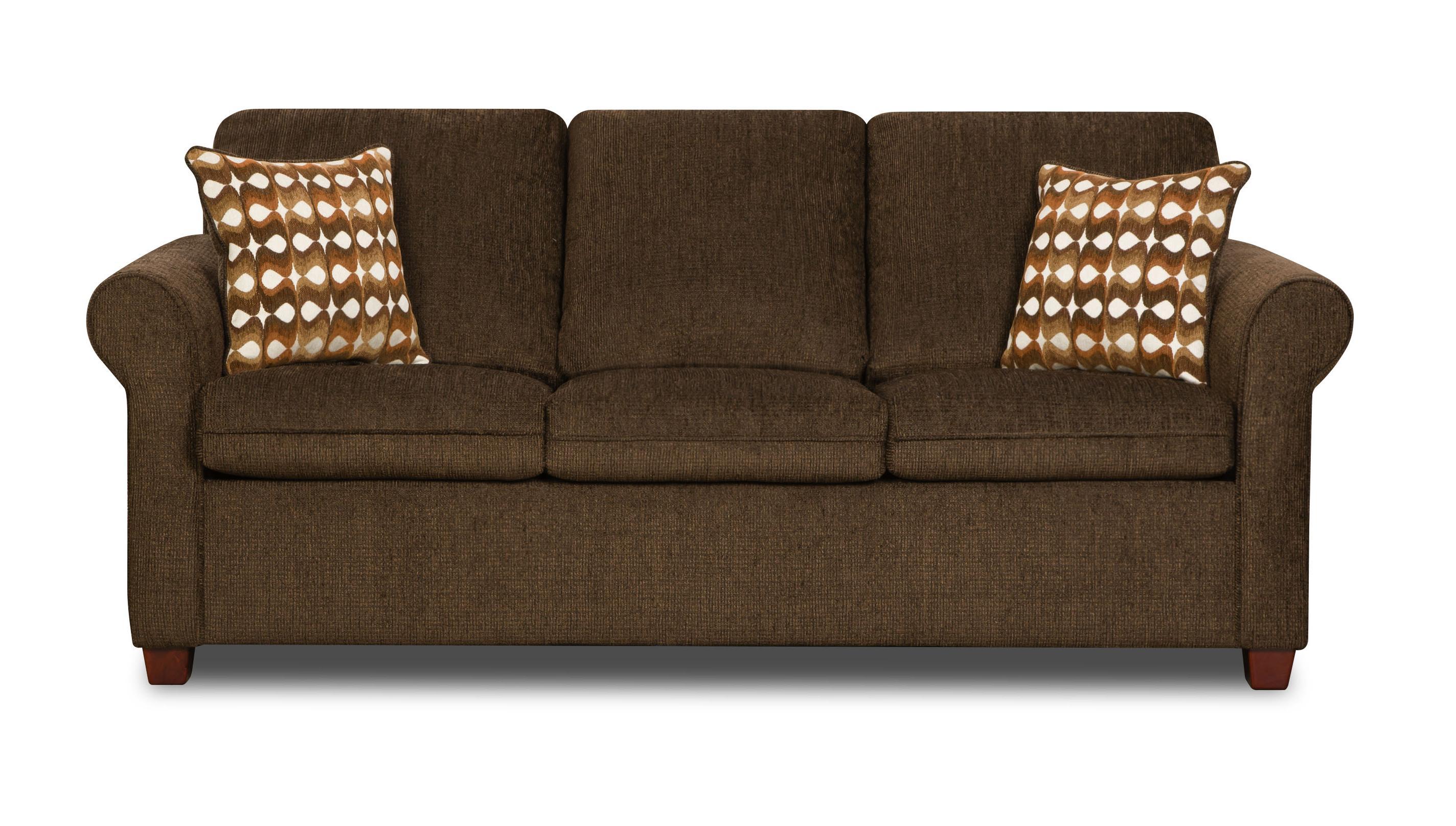 United Furniture Industries 1630 Transitional Sofa - Item Number: 1630Sofa-Nutmeg