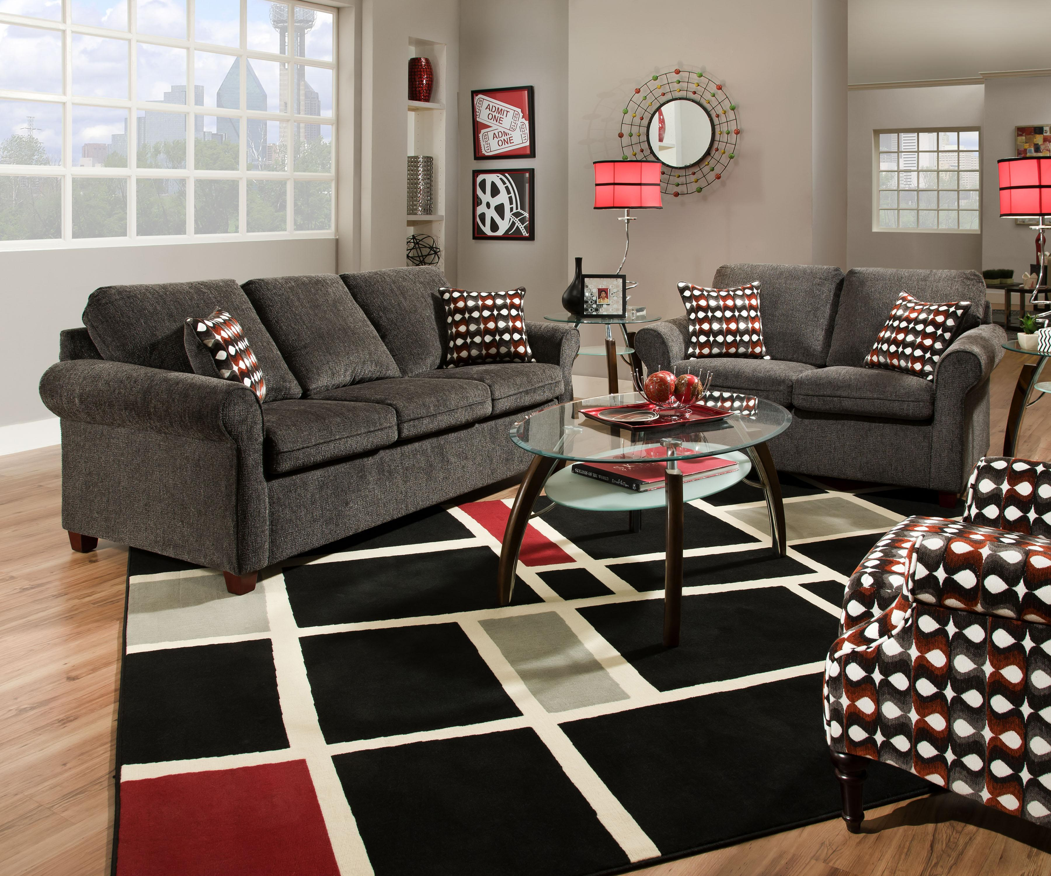 Furniture Industries: United Furniture Industries 1630 1630LOVESEAT Transitional