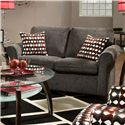 United Furniture Industries 1630 Transitional Loveseat - Item Number: 1630Loveseat-Charcoal