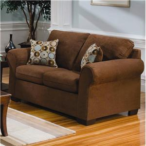United Furniture Industries 1640 Loveseat with Exposed Wood Feet