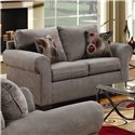 Simmons Upholstery 1640 Loveseat - Item Number: 1640 LS - Graphite