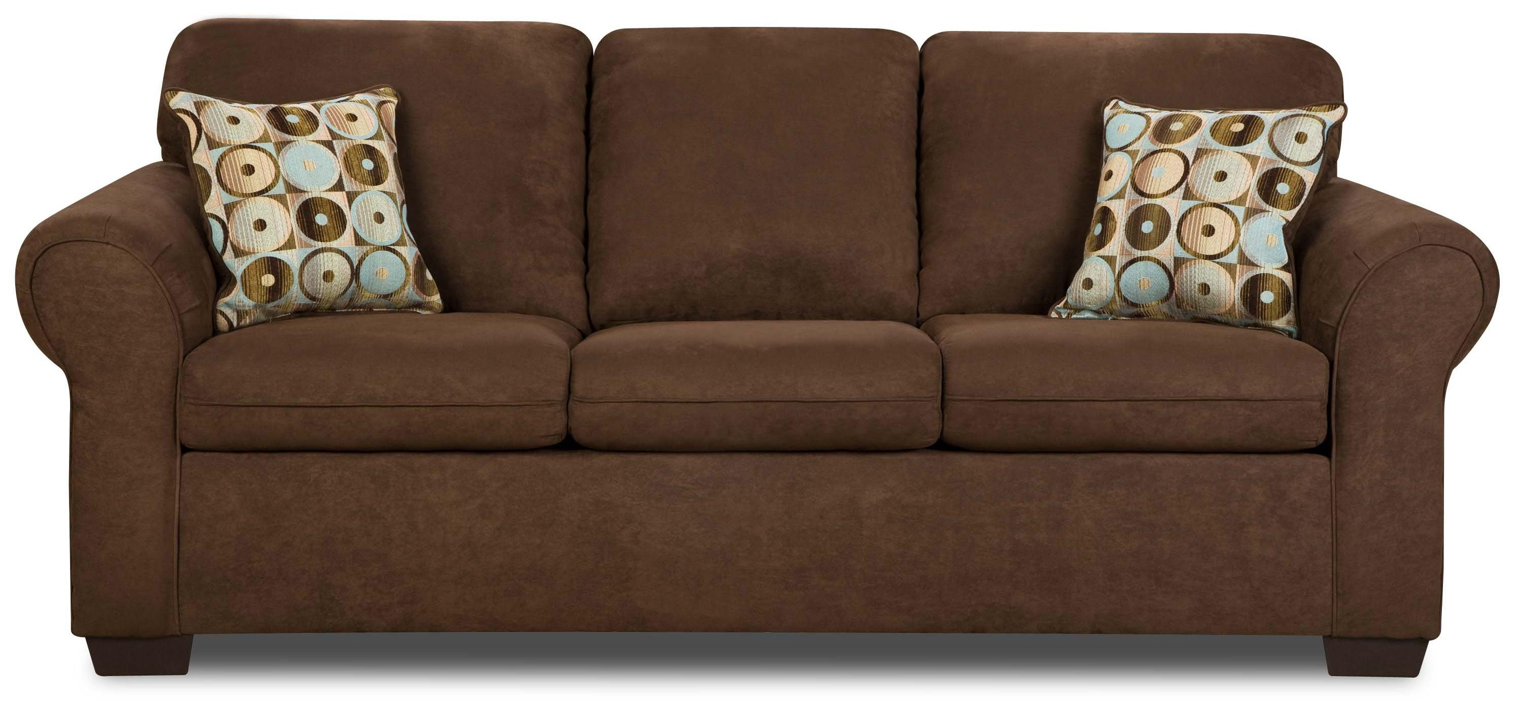Simmons Upholstery 1640 Queen Sleeper Sofa - Item Number: 1640QueenSleeper-Chocolate