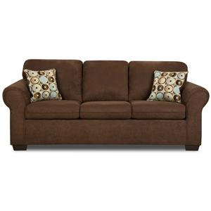Charming United Furniture Industries 1640 Stationary Sofa