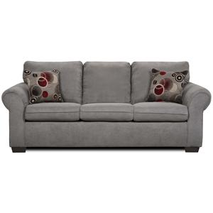United Furniture Industries 1640 Queen Sleeper Sofa with Exposed Wood Feet