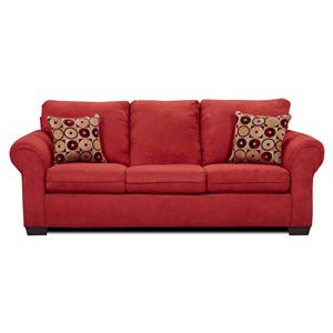 1640 Queen Sleeper Sofa with Exposed Wood Feet by United Furniture Industries