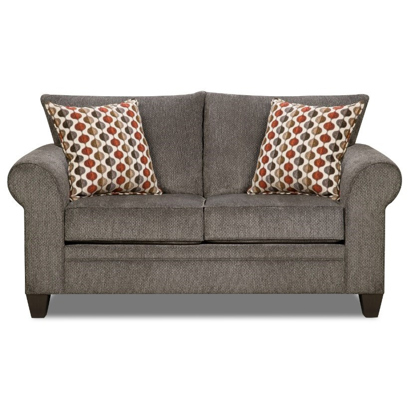 VFM Basics 1647 Transitional Loveseat - Item Number: 1647Loveseat-AlbanyPewter