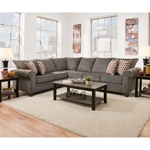 United Furniture Industries 1647 5-Seat Sectional with Sleeper Sofa