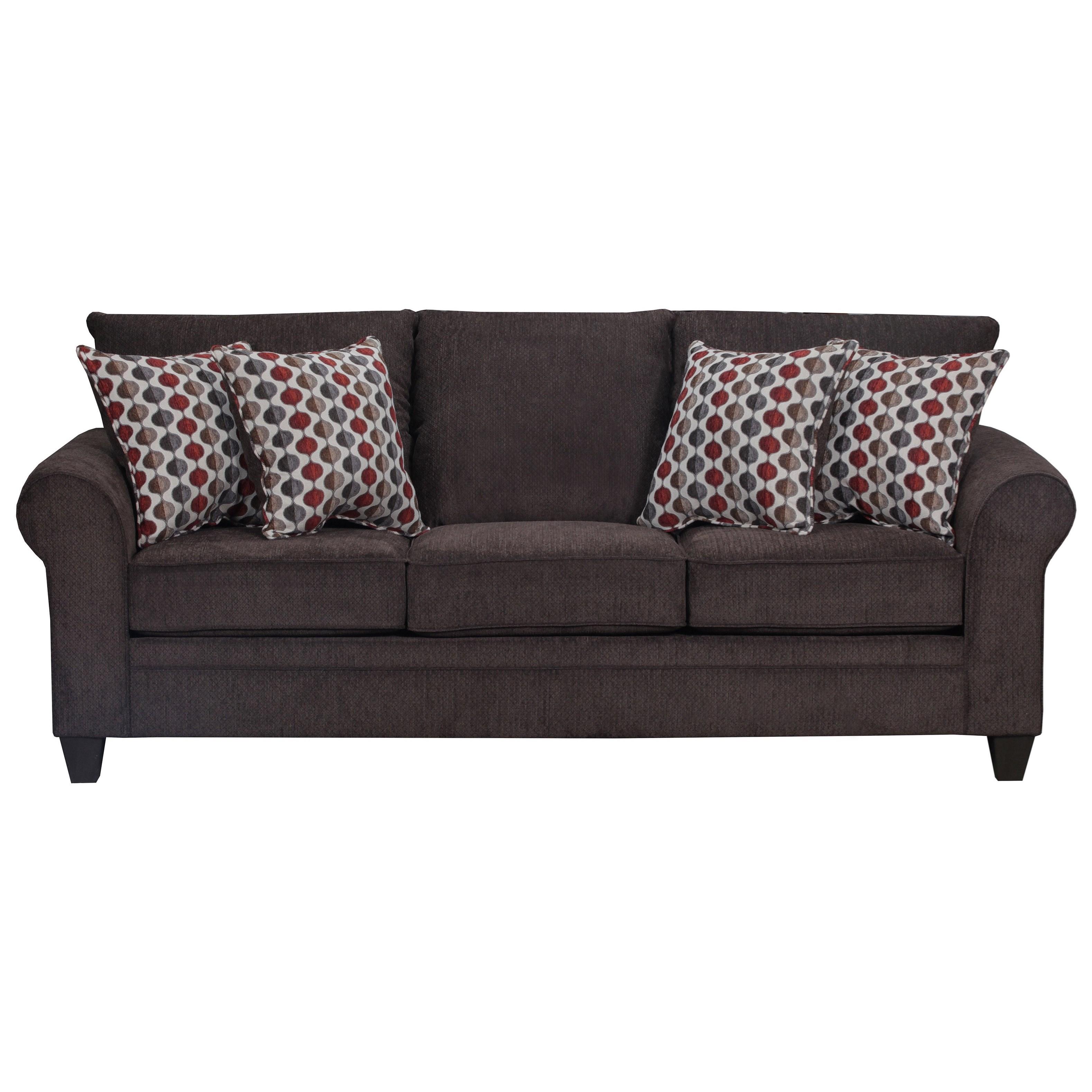 United Furniture Industries 1647 Transitional Sofa - Item Number: 1647Sofa-AlbanyMocha