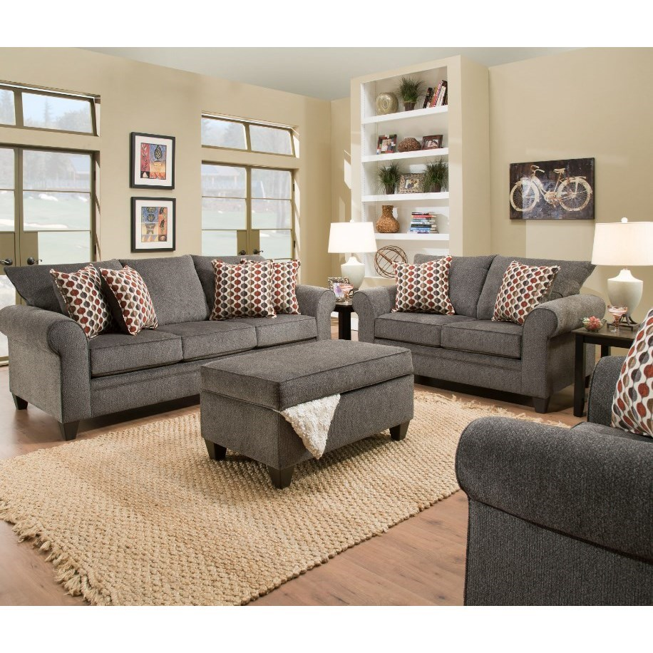 Leather Sofas Preston Lancashire: Simmons Upholstery 1647 1647QUEENSLEEPERSOFA Transitional