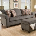 United Furniture Industries 1647 Transitional Queen Sleeper Sofa - Item Number: 1647SleeperSofa-AlbanyPewter