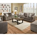 Simmons Upholstery 1657  Living Room Group - Item Number: 1657-Ash Living Room Group 1