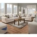 United Furniture Industries 1657  Living Room Group - Item Number: 1657-Linen Living Room Group 1