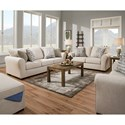 United Furniture Industries 1657  Living Room Group - Item Number: 1657-Linen Living Room Group 2