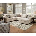 United Furniture Industries 1657  Sectional Sofa - Item Number: 1657LAFSOFA+RAFSOFACHAISE-Linen