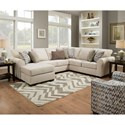 United Furniture Industries 1657  Sectional Sofa - Item Number: 1657LAFSOFACHAISE+RAFSOFA-Linen