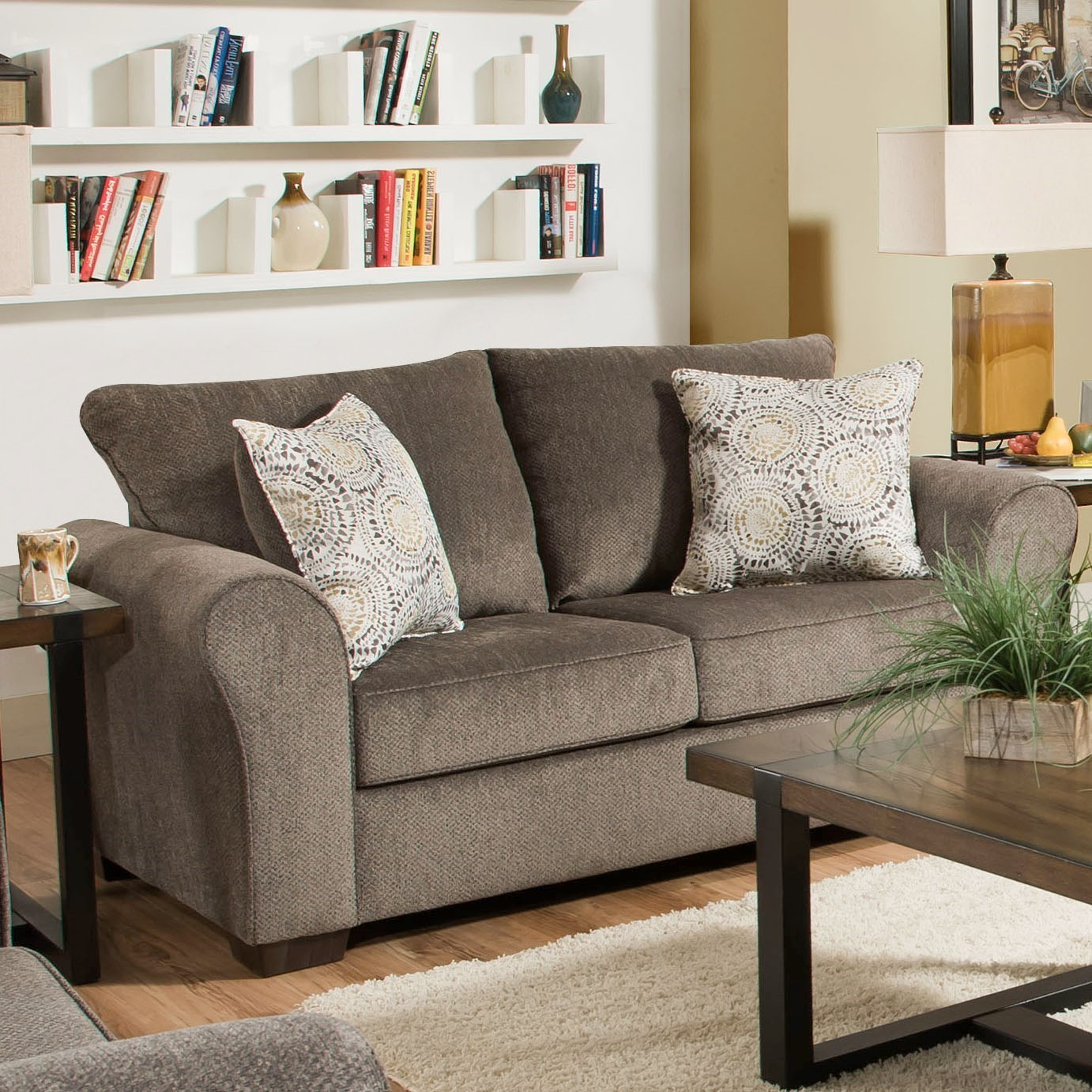 1657  Love Seat by United Furniture Industries at Dream Home Interiors