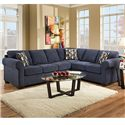 United Furniture Industries 1685  Casual Sectional Sofa - Item Number: 1685 LAF Sofa+ RAF Bump Stone