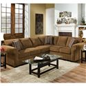 United Furniture Industries 1685  Casual Sectional Sofa - Item Number: 1685 LAF Sofa+ RAF Bump Walnut