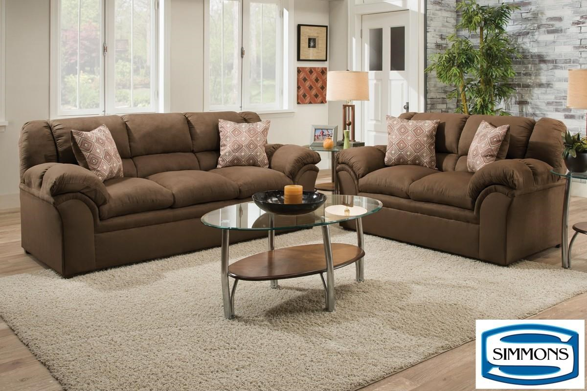 Simmons Upholstery 1720 United Casual Living Room Group - Item Number: 1720Choc