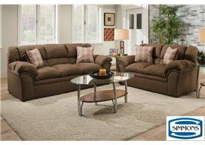 Simmons Upholstery 1720 United Casual Living Room Group