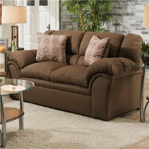 Simmons Upholstery 1720 United Casual Loveseat