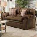 Simmons Upholstery 1720 United Casual Loveseat - Item Number: 1720L