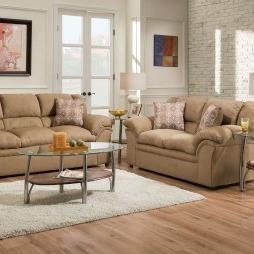 Simmons Upholstery 1720 United Casual Loveseat - Item Number: 1720Loveseat-VentureLatte