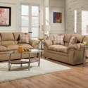 United Furniture Industries 1720 United Casual Loveseat - Item Number: 1720Loveseat-VentureLatte