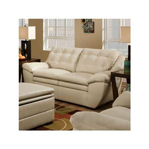 Ordinaire Simmons Upholstery Winner Pearl Winner Bonded Leather Loveseat In Pearl
