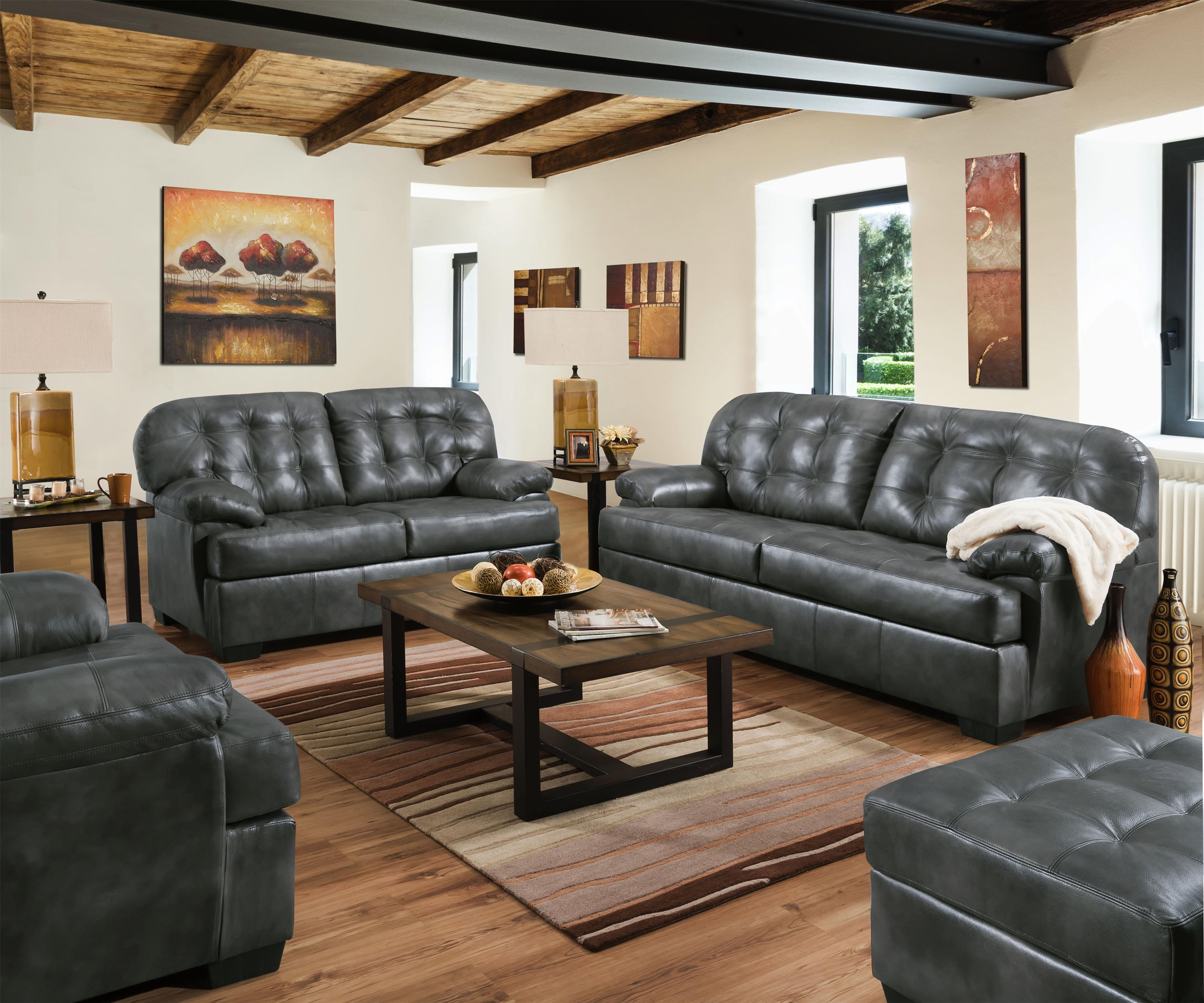 2037 Sofa and Loveseat by United Furniture Industries at Value City Furniture