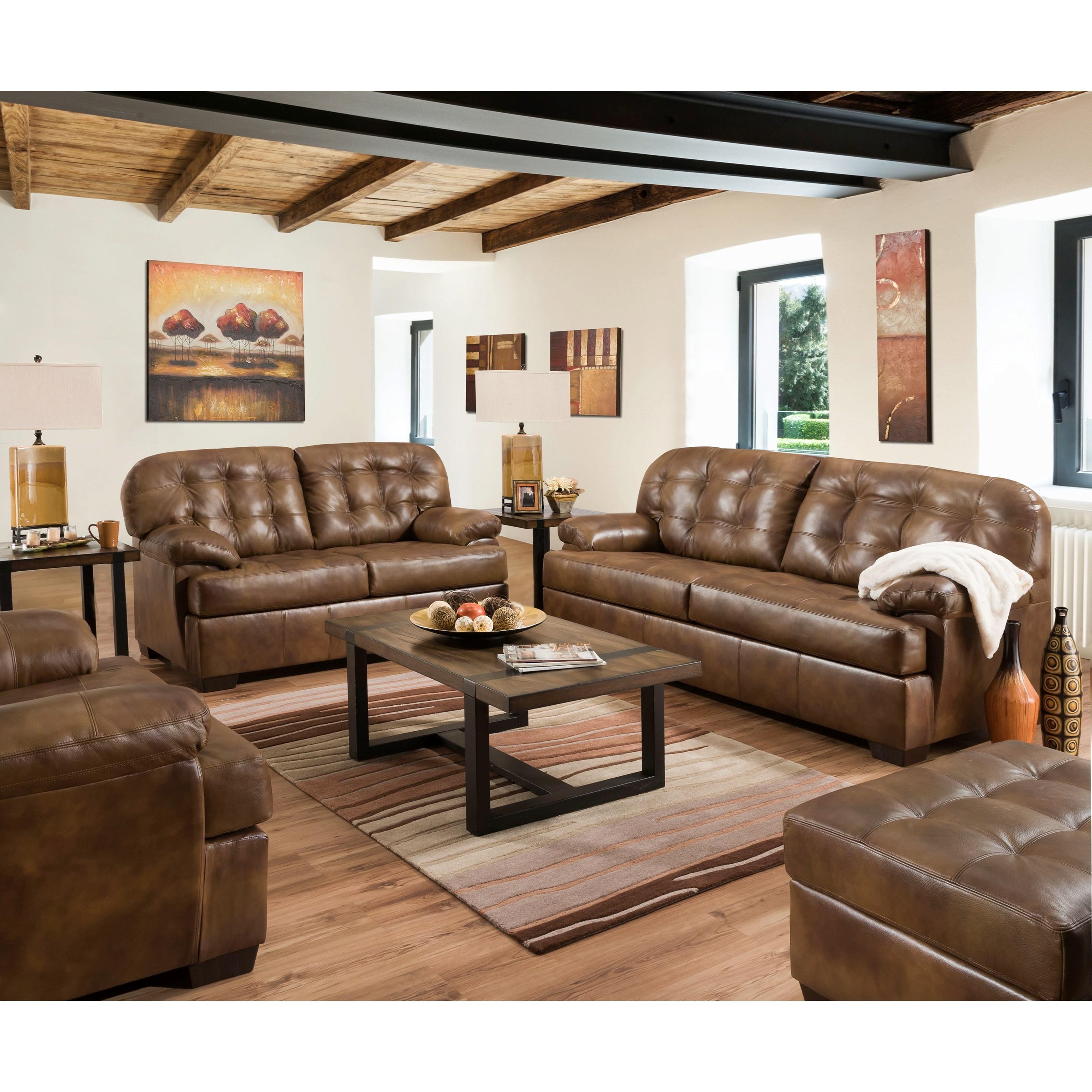 Furniture Industries: United Furniture Industries 2037 2037-02 Casual Loveseat