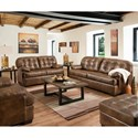 United Furniture Industries 2037 Casual Sofa with Tufted Back