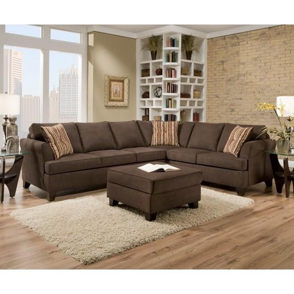 Simmons Upholstery 2049 Casual Sectional Sofa - Item Number: 2049LAFSofa+RAFSofa-DiverChocolate