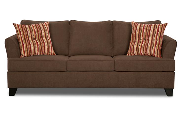 Simmons Upholstery 2049 Transitional Sleeper Sofa - Item Number: 2049QSleeper-DiverChocolate