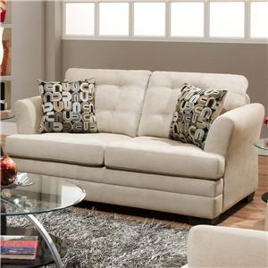 United Furniture Industries 2057 Contemporarty Sofa with Tufted Cushions Miskelly Furniture