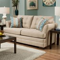 United Furniture Industries 2057 Loveseat - Item Number: 2057 Loveseat Tan