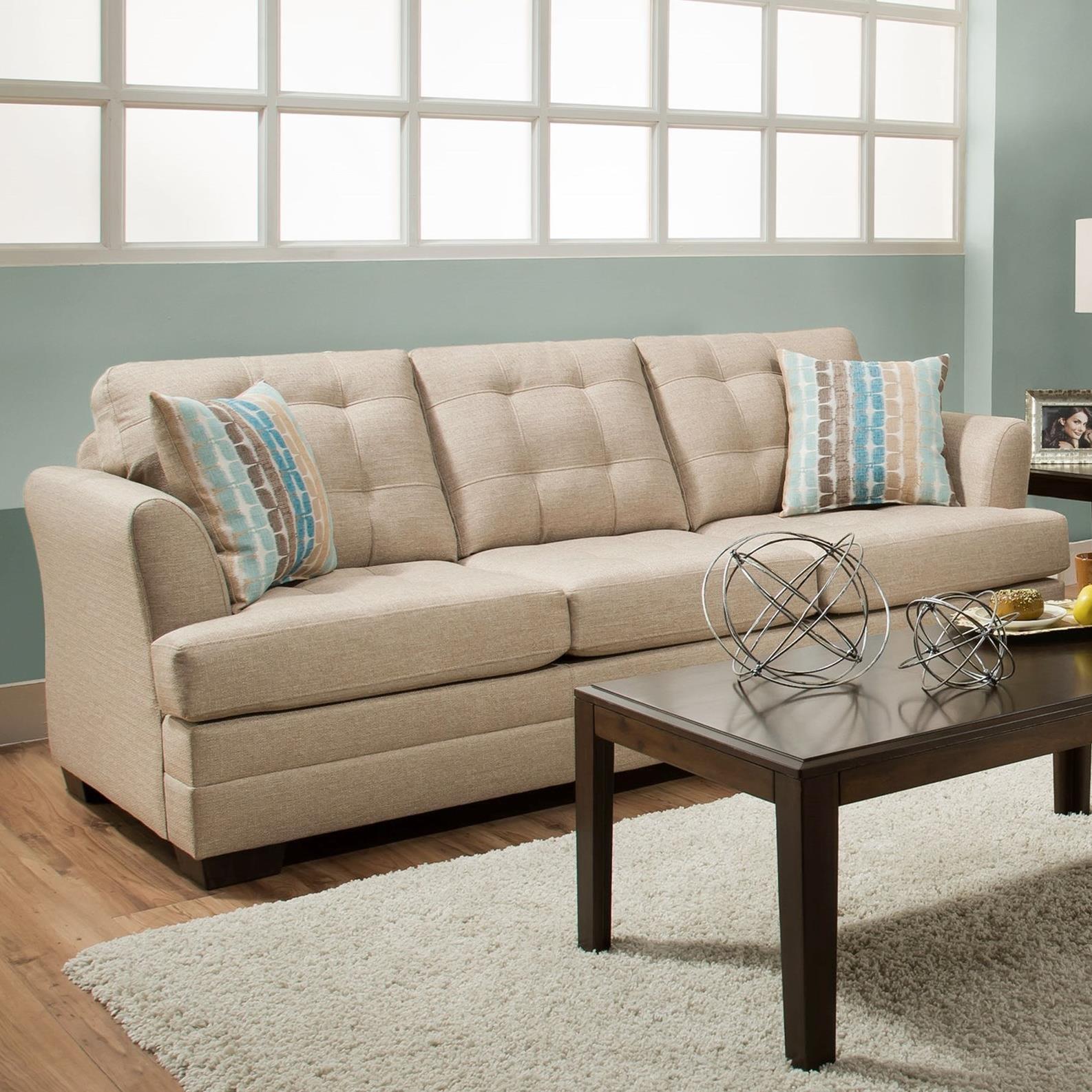 United Furniture Industries 2057 Sofa - Item Number: 2057 Sofa Tan