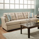 United Furniture Industries 2057 Sofa - Item Number: 2057 Sofa Tan