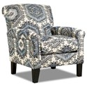 United Furniture Industries 2160 Accent Chair - Item Number: 2160Chair-TequilaInidgo