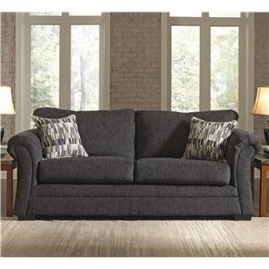 United Furniture Industries 2256 Transitional Stationary Sleeper Sofa
