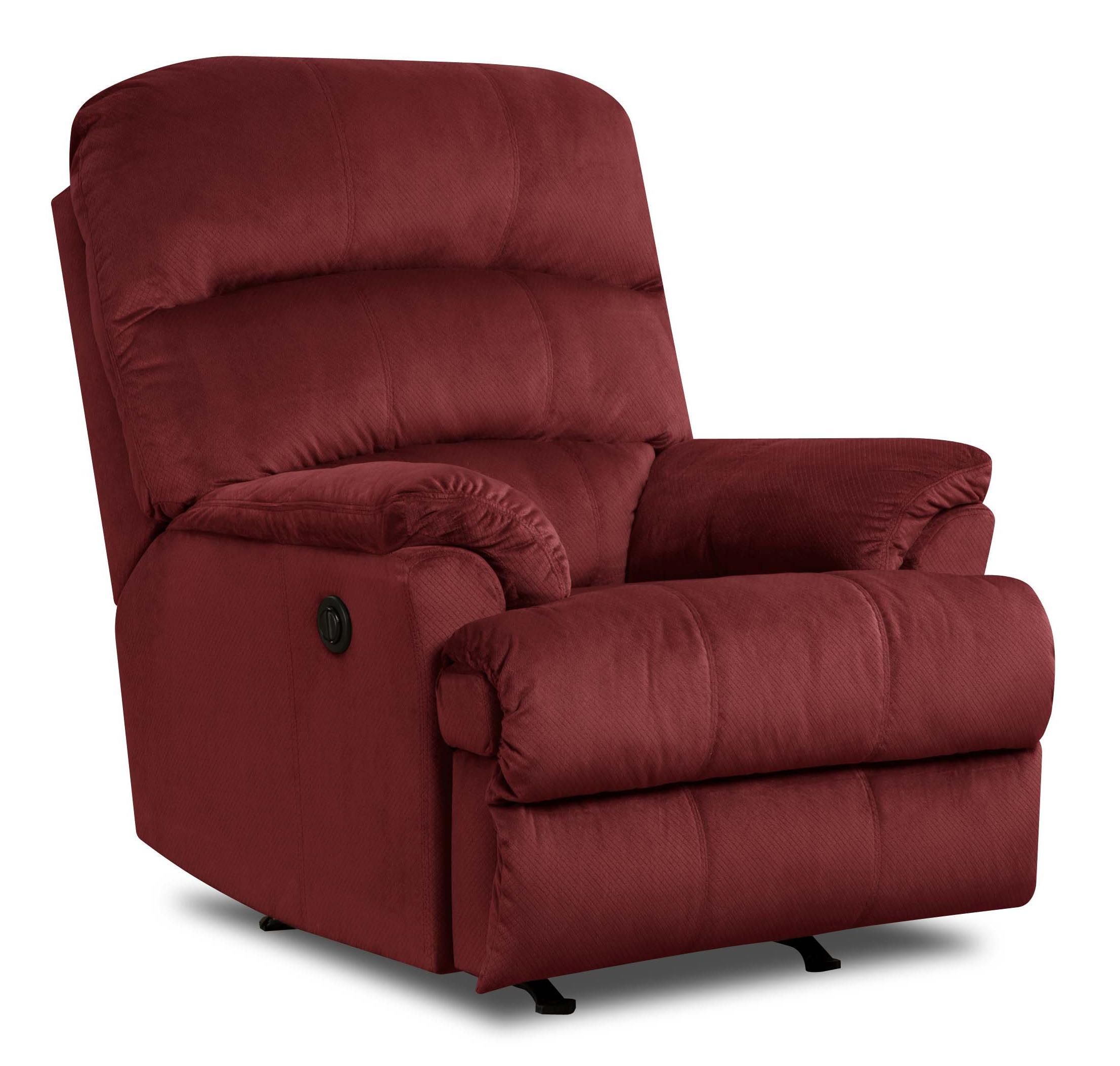 United Furniture Industries 271 Casual Rocker Recliner - Item Number: 271 Rocker Recliner Merlot