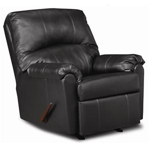 United Furniture Industries 278 Casual 3-Way Leather Power Recliner with Wrap-and-Fold Arms
