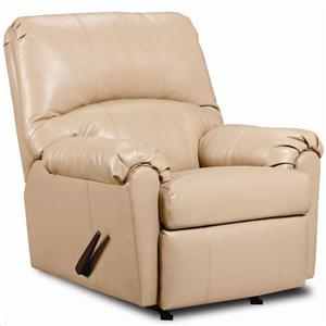 United Furniture Industries 278 Casual 3-Way Leather Recliner with Wrap-and-Fold Arms
