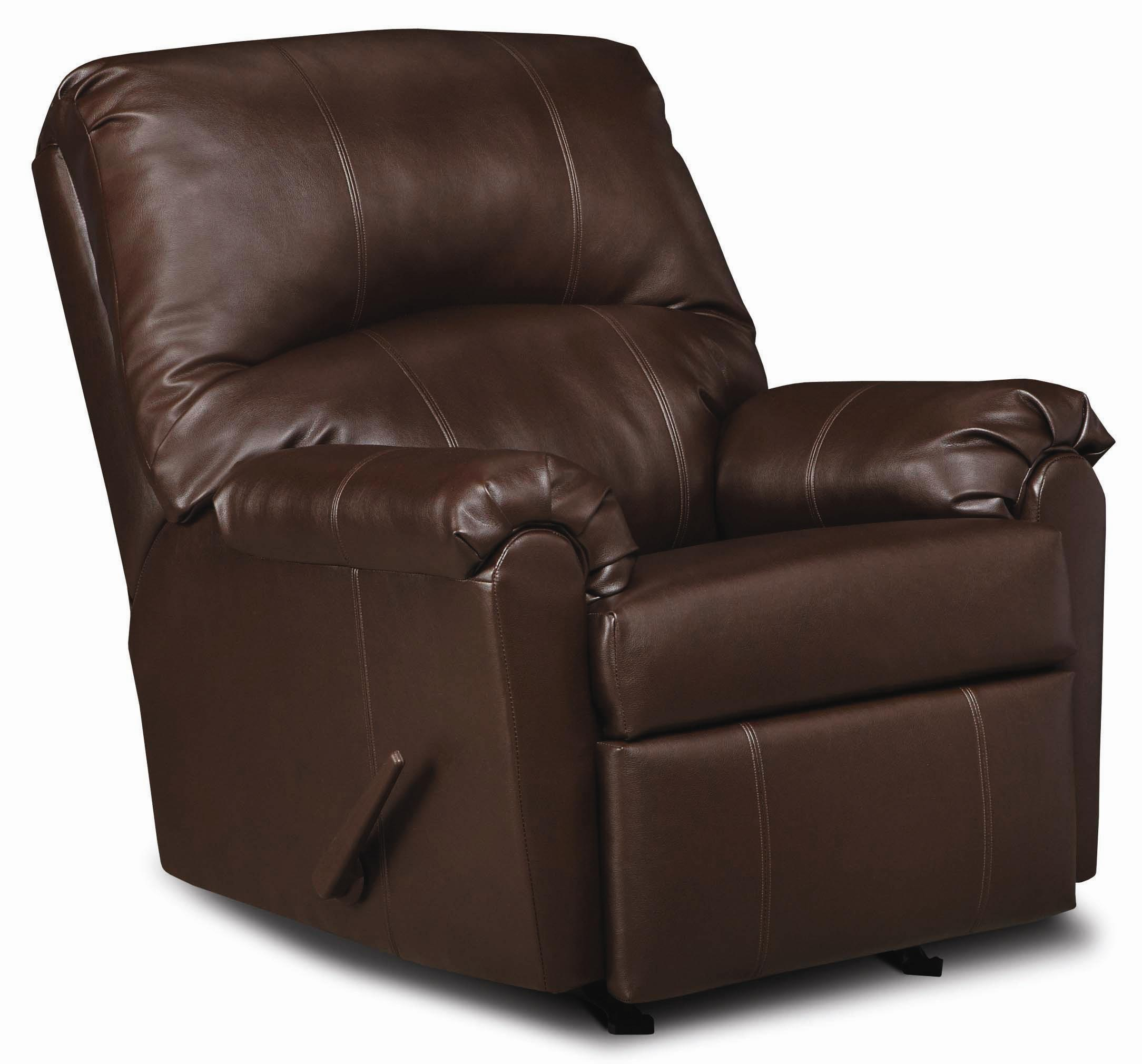 Simmons Upholstery 278 Casual 3-Way Recliner - Item Number: 278 Walnut