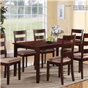 U.S. Furniture Inc 2950 7 Piece Dining Set - Item Number: 2950 TABLE+6XCHAIR