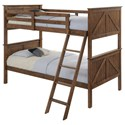 United Furniture Industries Ashland Twin Over Twin Bunk Bed - Item Number: 3015-90+91