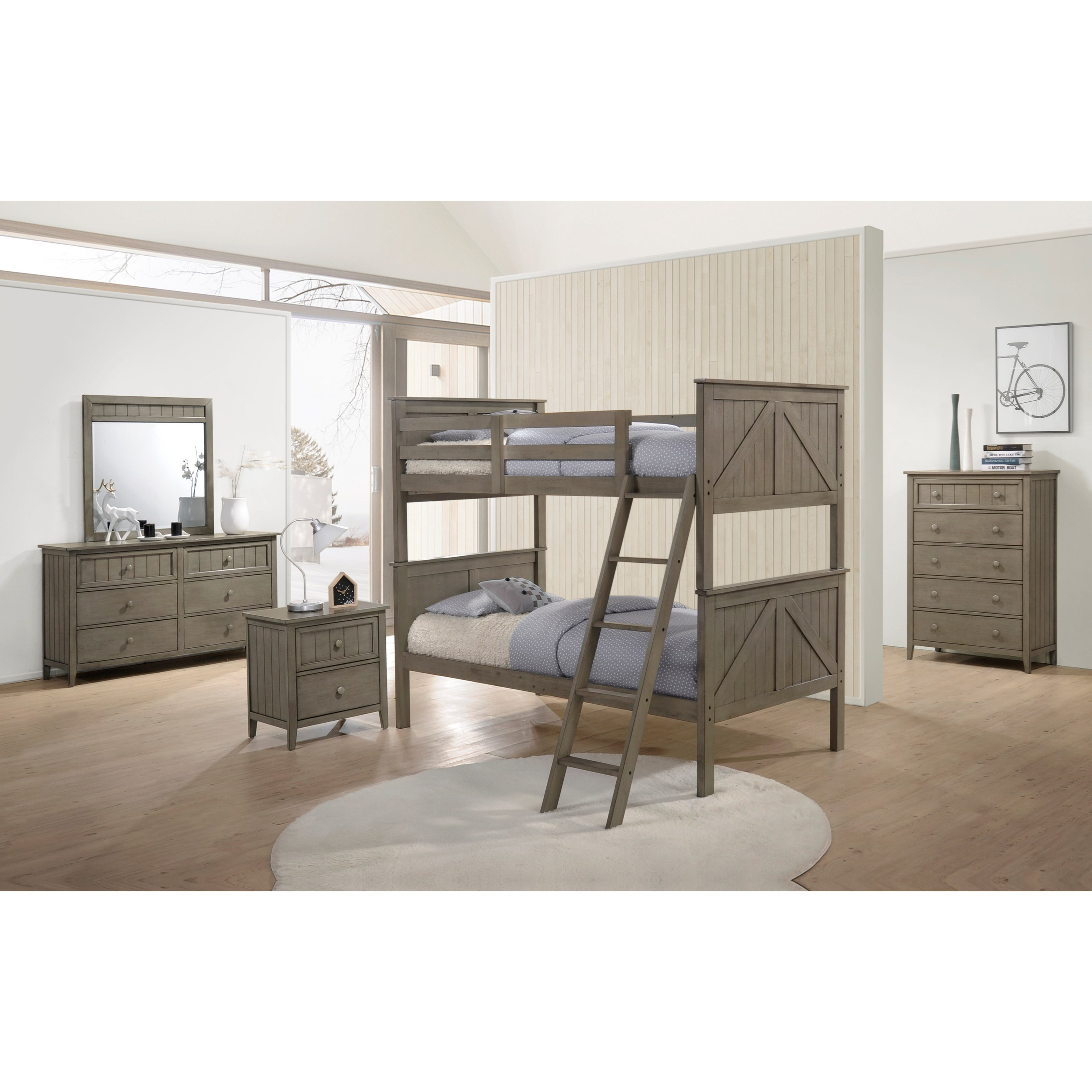 Ashland Twin Over Twin Bunkbed Room Group by United Furniture Industries at Dream Home Interiors