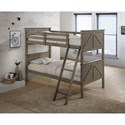 United Furniture Industries Ashland Twin Over Twin Bunk Bed - Item Number: 3016-90+91