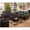 Simmons Upholstery 3615 Stationary Living Room Group - Item Number: 3615 2 Pc Group